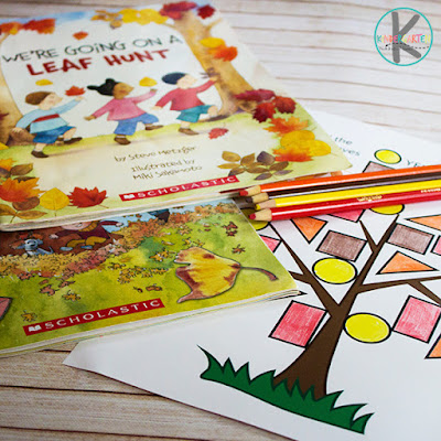Fall Story Time with Leaf worksheets for kids
