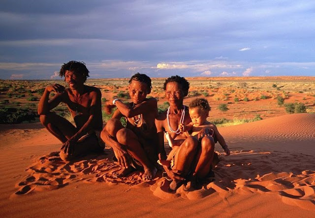 Genetics of African Khoesan populations maps to Kalahari Desert geography