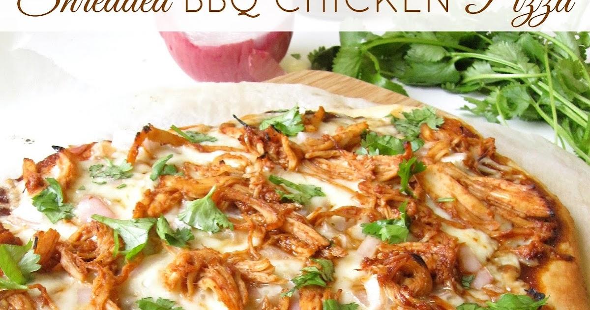 Shredded BBQ Chicken Pizza - Lindsay Ann Bakes