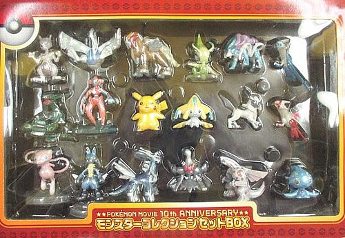 Celebi figure metallic version Tomy Monster Collection 2007 Pokemon movie 10th anniversary figures set
