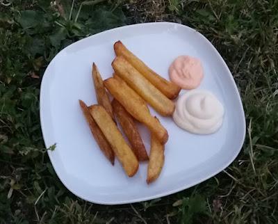 Selbstgemachte Pommes frites; Fritten selber machen