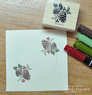stamping with markers christmas