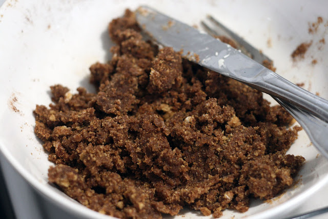 butter, brown sugar and cinnamon mixed together to make the filling