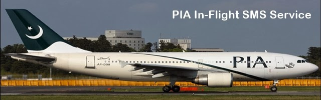 PIA In-Flight SMS Service, soon the Pakistani Airline will launch in-flight Email, Wi-Fi and Cellular Roaming Service