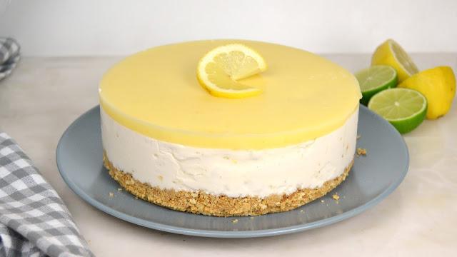 Tarta helada de limón y leche condensada