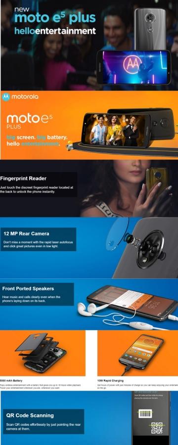 Moto E5 PLUS Images features