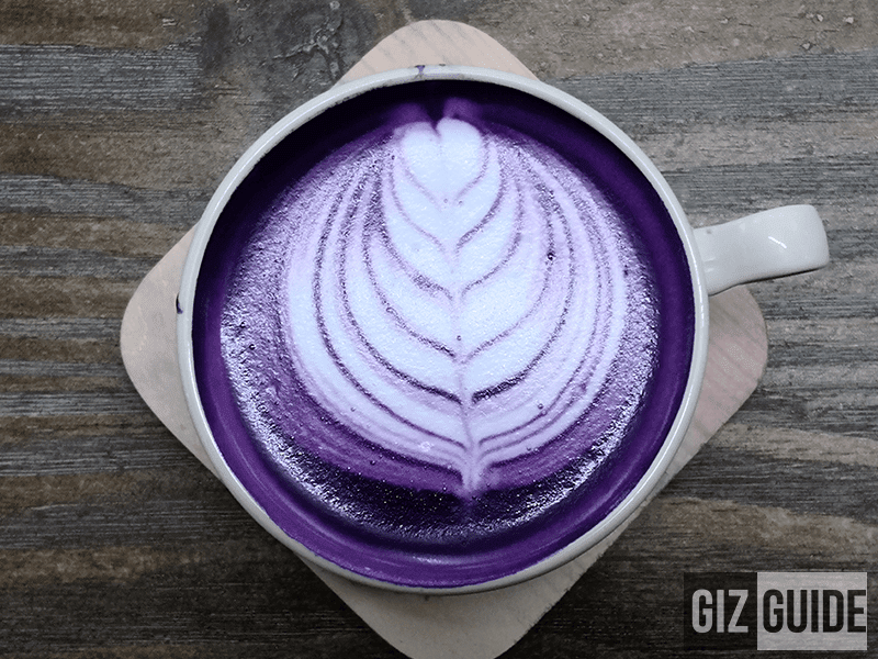 Ellipsis Coffee's premium Ube Latte for PHP 120