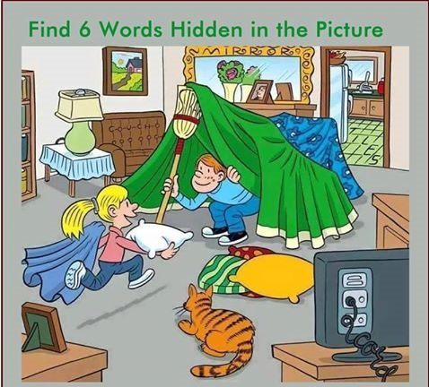 Find 6 Words Hidden in this picture