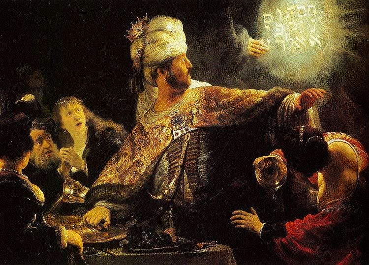 Um lindo Rembrandt - Festa de Belsazar