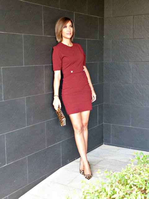 Fitness And Chicness-Burgundy Fall Dress-3
