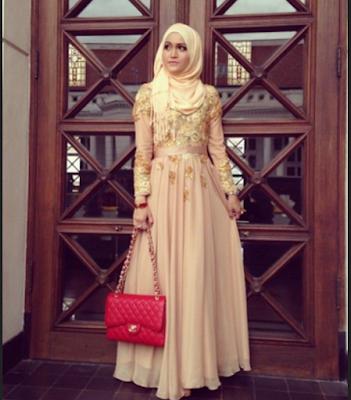 model gaun kebaya pesta bagi wanita muslimah