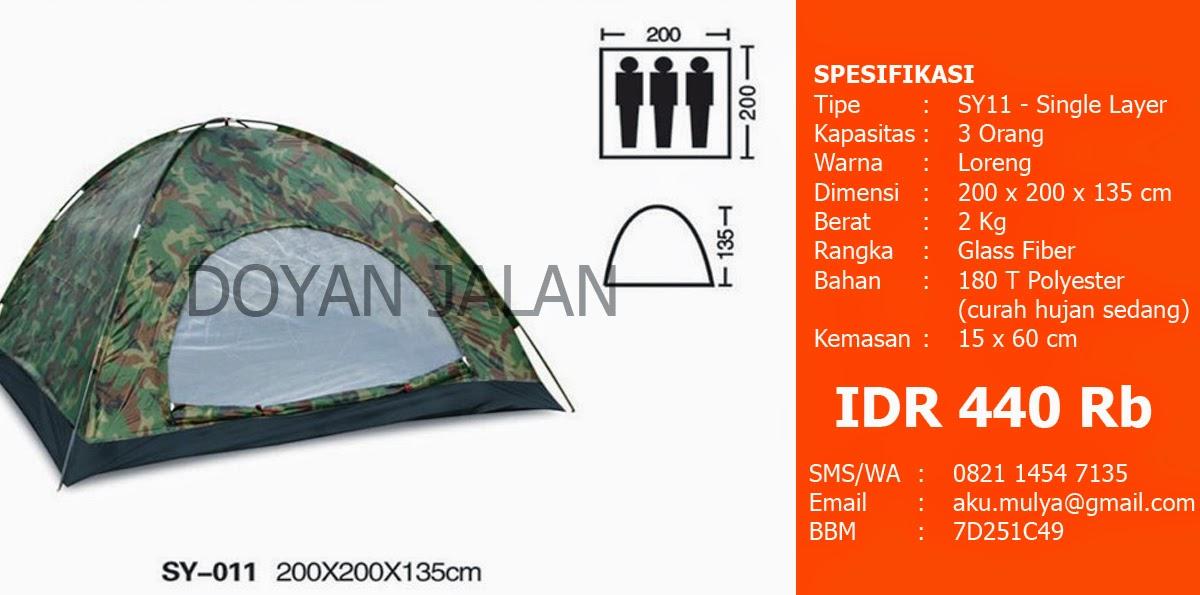 Jual Tenda Dome Murah Kapasitas 3 Orang