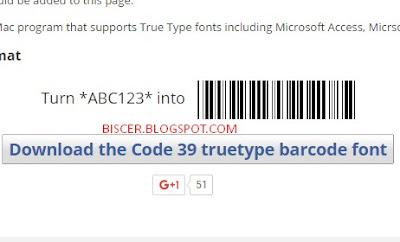 fonts barcode tipe Code 39
