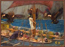 Ulises y las Sirenas, por Waterhouse.