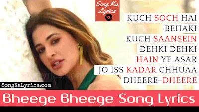 bheege-bheege-lyrics-song-from-movie-amavas-2019-nargis-fakhri