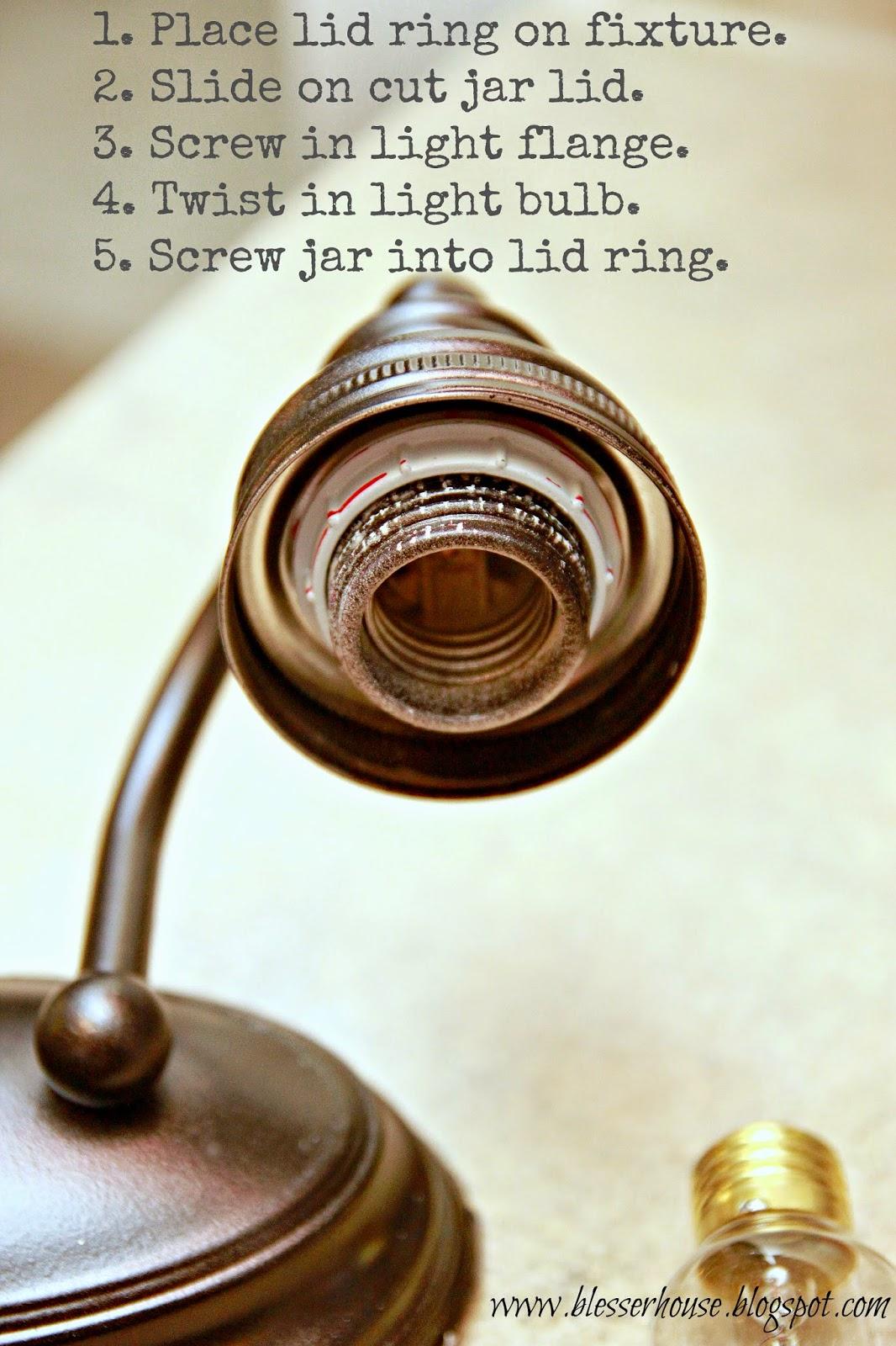 Attractive DIY Mason Jar Vanity Light - Bless'er House NJ37