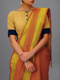45714b79b132f 18 Simple Blouse Designs for Cotton Sarees to Try this Year