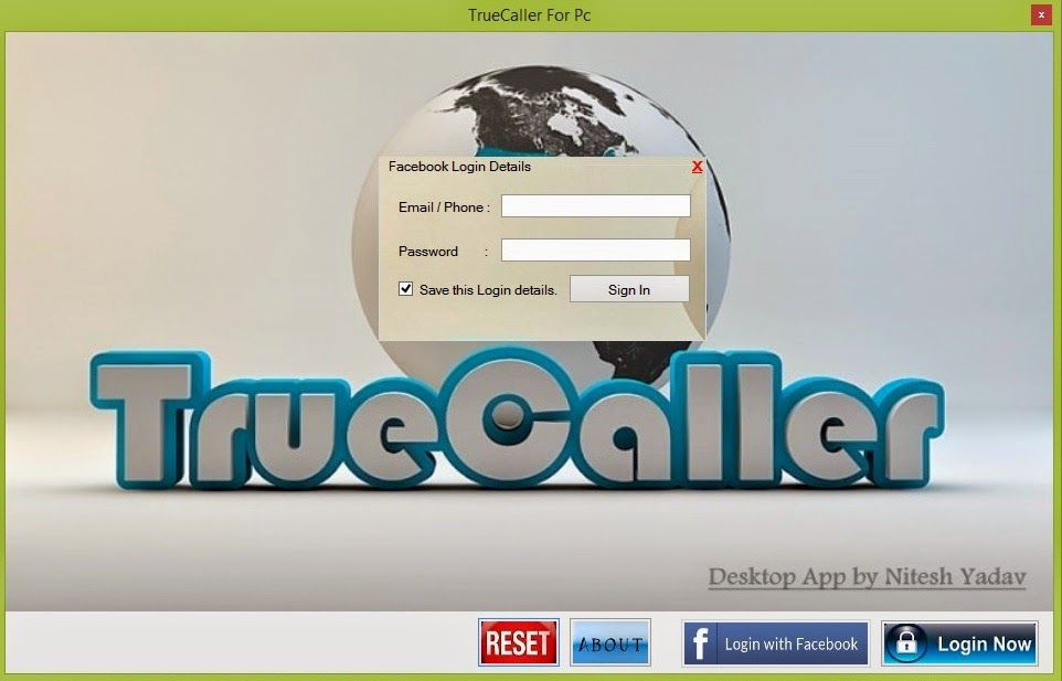 Think Digital: TrueCaller Desktop Application for Windows 7