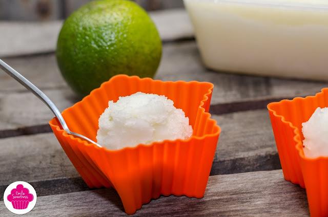 Sorbet mojito - au citron, citron vert, menthe et rhum - avec ou sans sorbetière