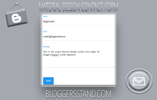 How To Add Material Design Contact Form In Blogger