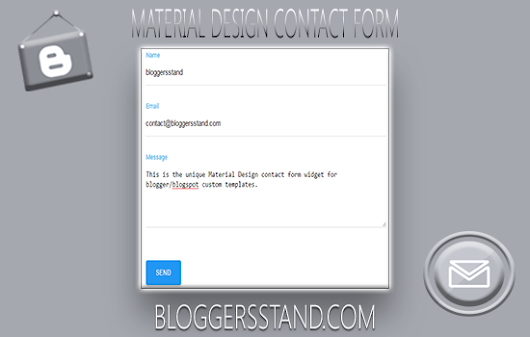 BloggersStand: How To Add Material Design Contact Form In Blogger