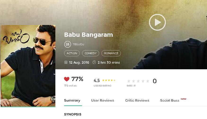 Babu Bangaram 2016 Full Hindi Movie 300MB 700MB HD