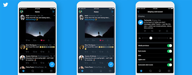 new Lights Out mode, Dark Mode option in the iOS app, iOS app, dark mode automatically on the Twitter app, Twitter, news, Twitter for iOS gets Dark Dark mode, social media, app, apps, original Dark Mode app,