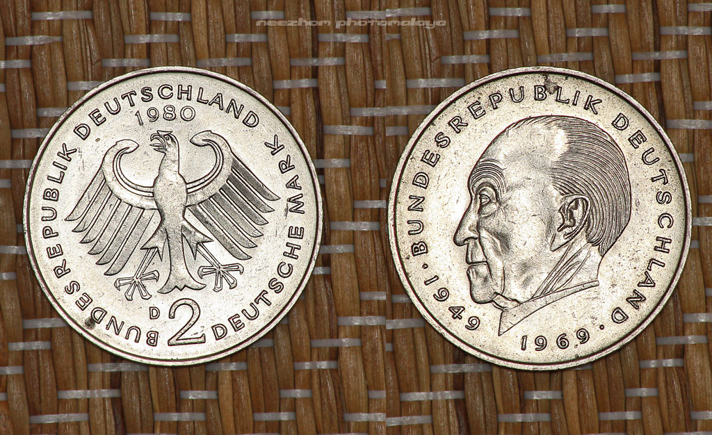Germany coins collection - 2 deutsche mark 1980