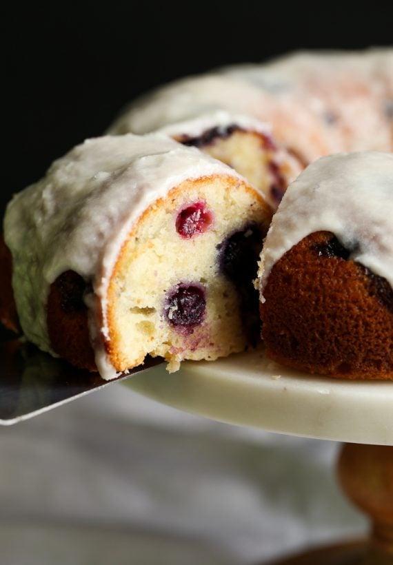 Sour Cream Blueberry Bundt Cake Recipe