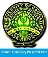 Gauhati University PG Admit Card