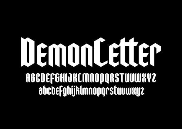 Font Modern Blackletter Grafis - Demonletter Modern Blackletter font