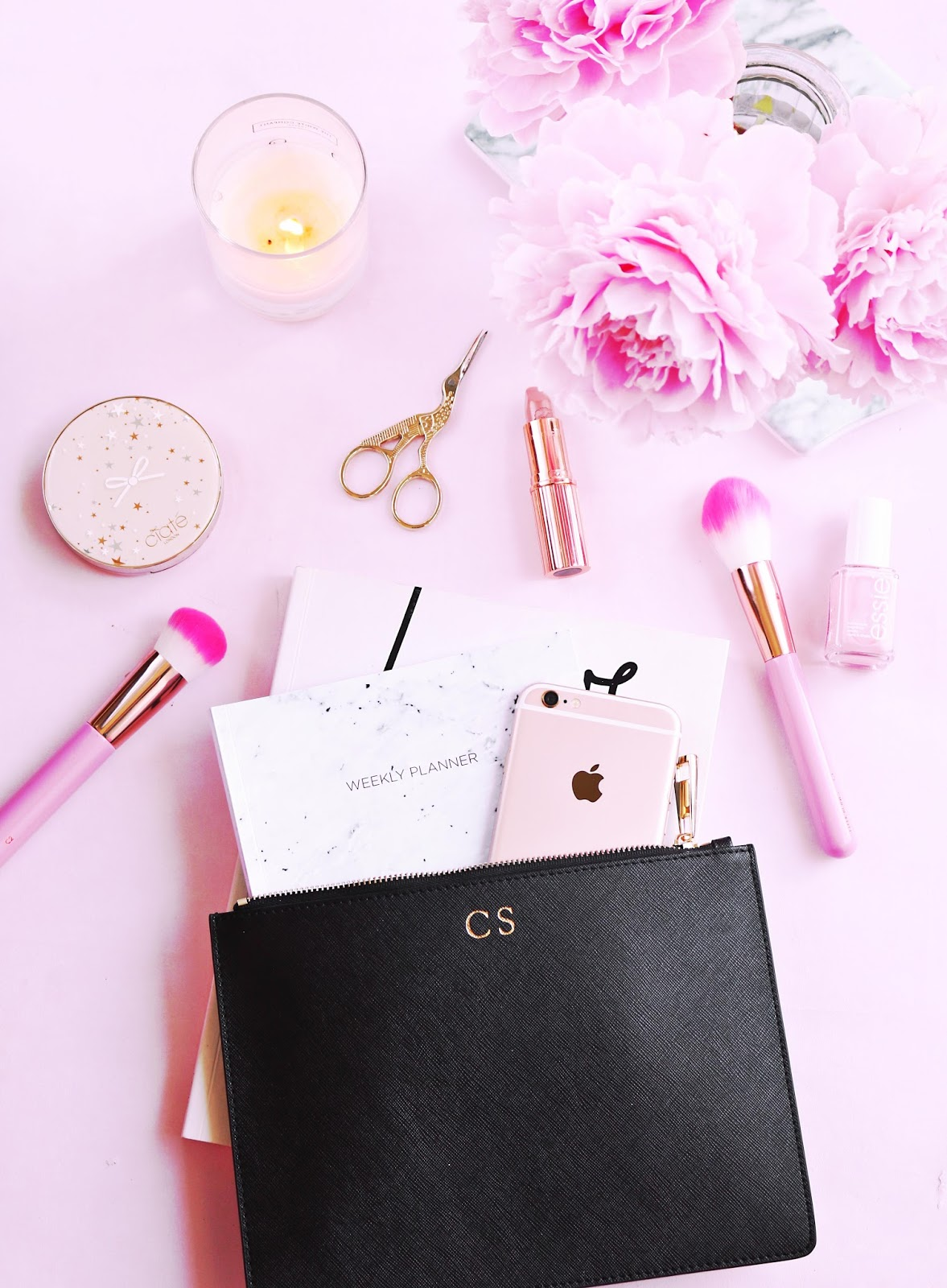 Why I'm Letting Go Of My Obsession To Be Busy All Of The Time , pink flat lay, flat lay, pink, lifestyle, mental health