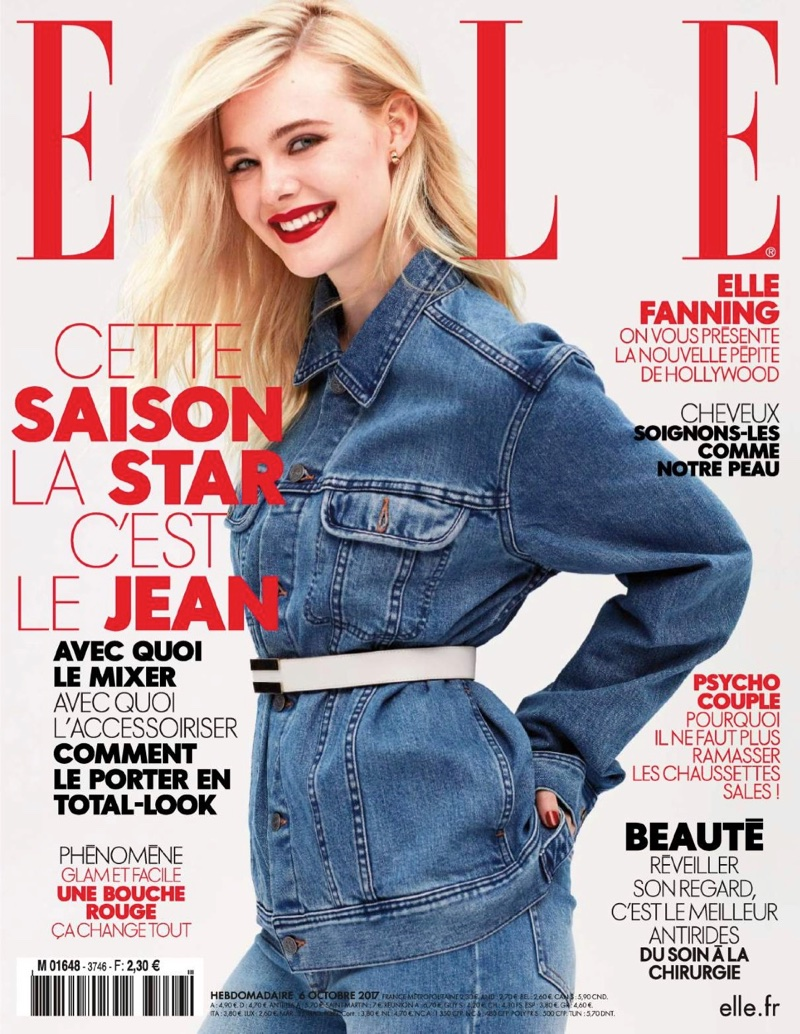 Elle Fanning by Dusan Reljin for ELLE France October 2017 Cover Shoot