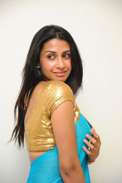 Young Actress Gayatri Iyer Spicy Photos In Saree