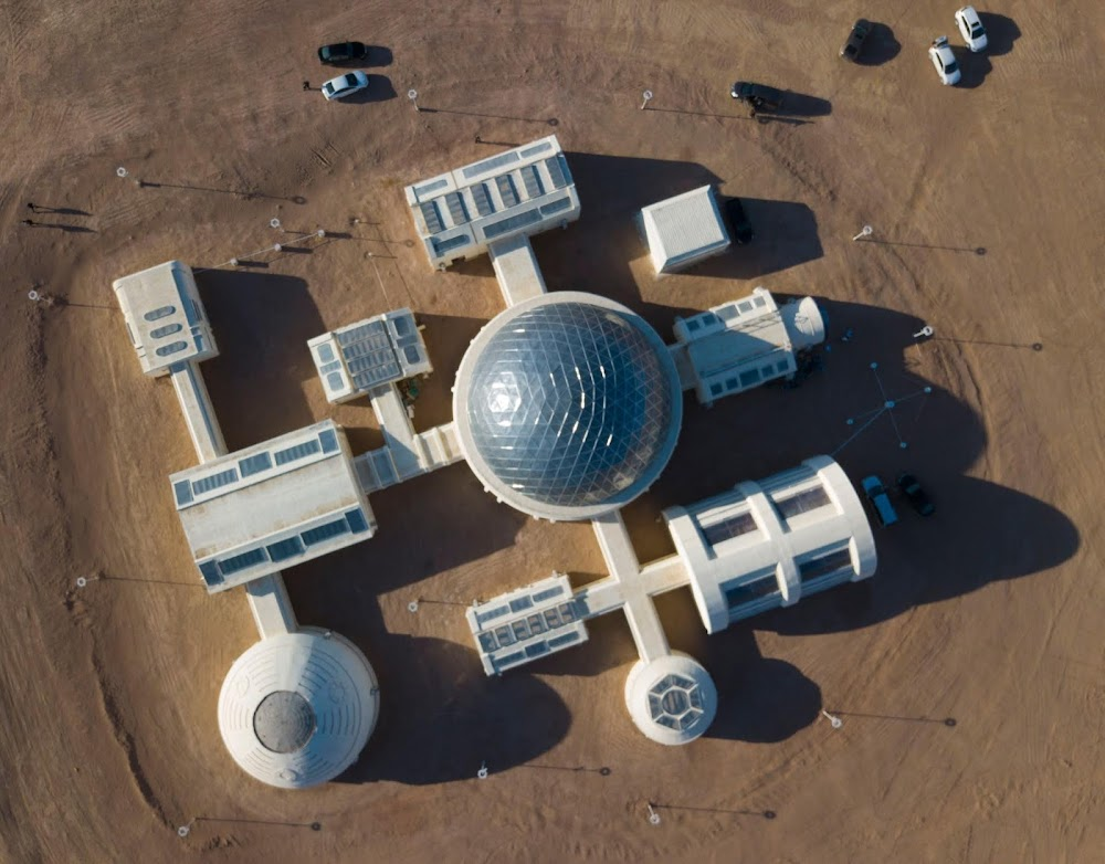 China's C-Space Mars simulation base in Gobi desert (overview)