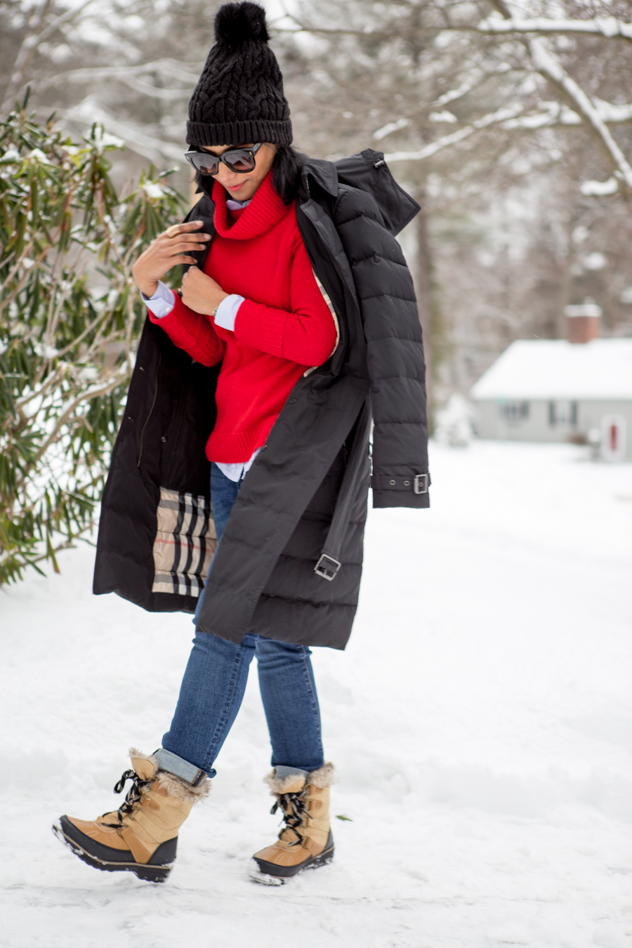 puffer, snow boots, payless, affordable style, budget style, winter coat, curvy jeans, petite style, petite fashion, jcrew, personal style, burberry, valentines day