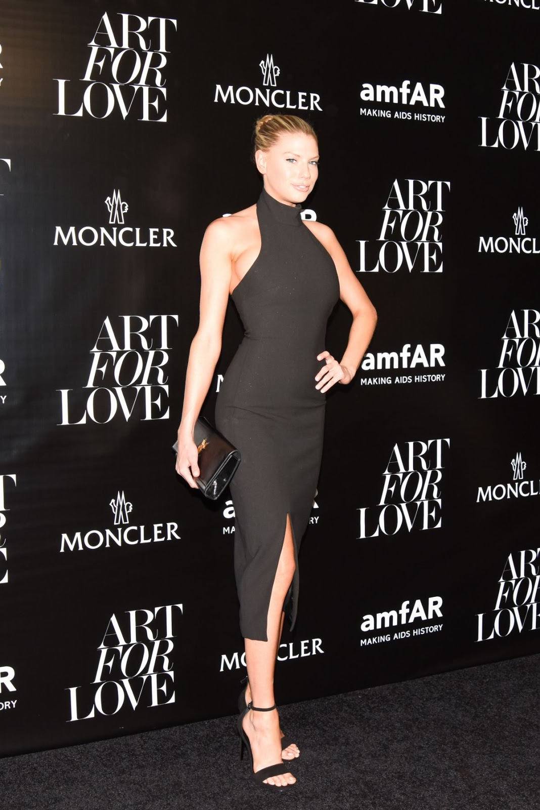 Full HQ Photos of Charlotte Mckinney in Black dress At Oncler Amfar Celebrate Art Of Love In New York