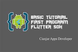 Belajar Cara Membuat Program Sederhana dengan Flutter
