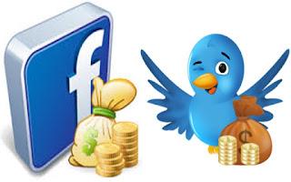 ट्विटर और फेसबुक से पैसा कमाये आसानी से