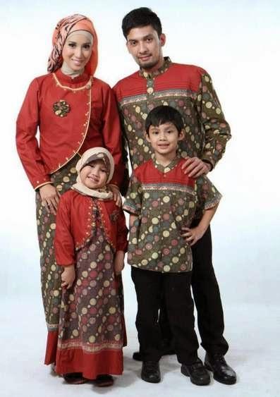 Baju batik muslim anak dan sarimbit terbaik