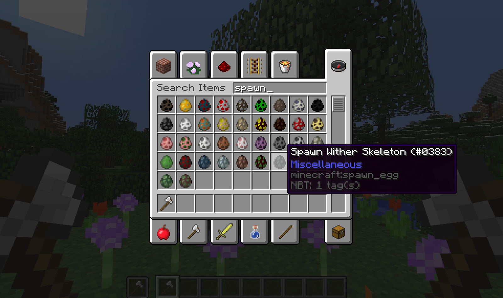 Minecraft One Click Crafting