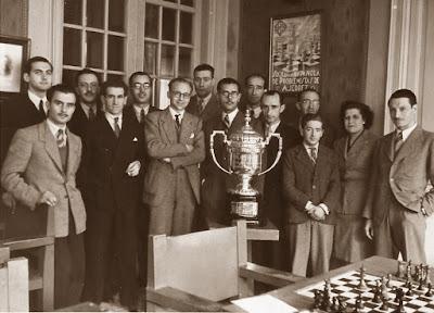 Jugadores del Club Ajedrez Barcelona en 1948