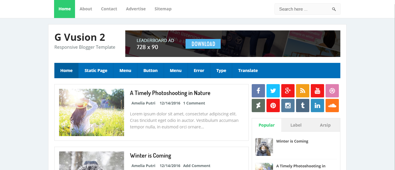 Top 5 Free Blogger Templates Adsense Friendly - Get any Template