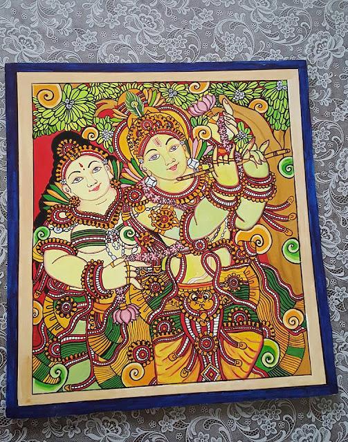 Kerala Style Carpenter Works And Designs September 2013: Keral Mural Style Painting Krishna