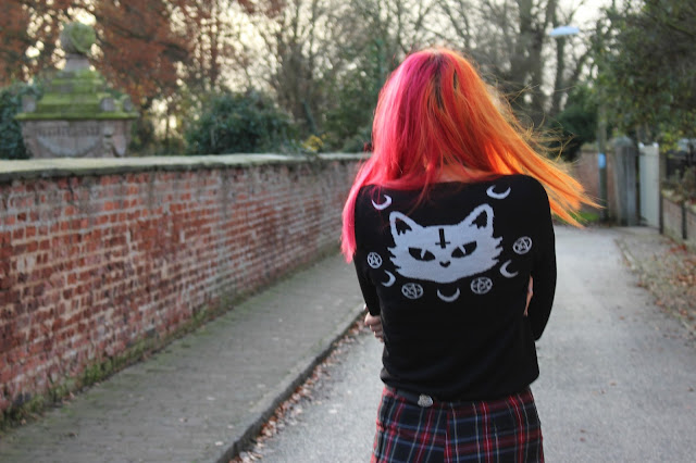 Banned Kitty Jumper Blue Banana