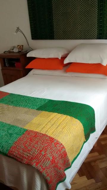 dos agujas pie de cama - Mantas a dos agujas... ideal como manta o pie de cama