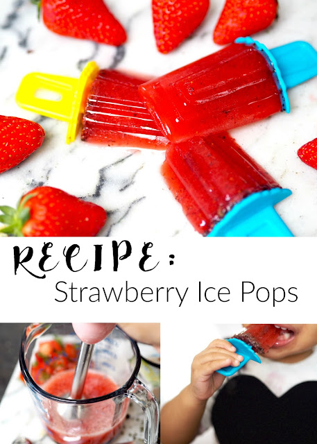 Recipe: Strawberry Ice Pops With A Twist - Eat.Love.Live