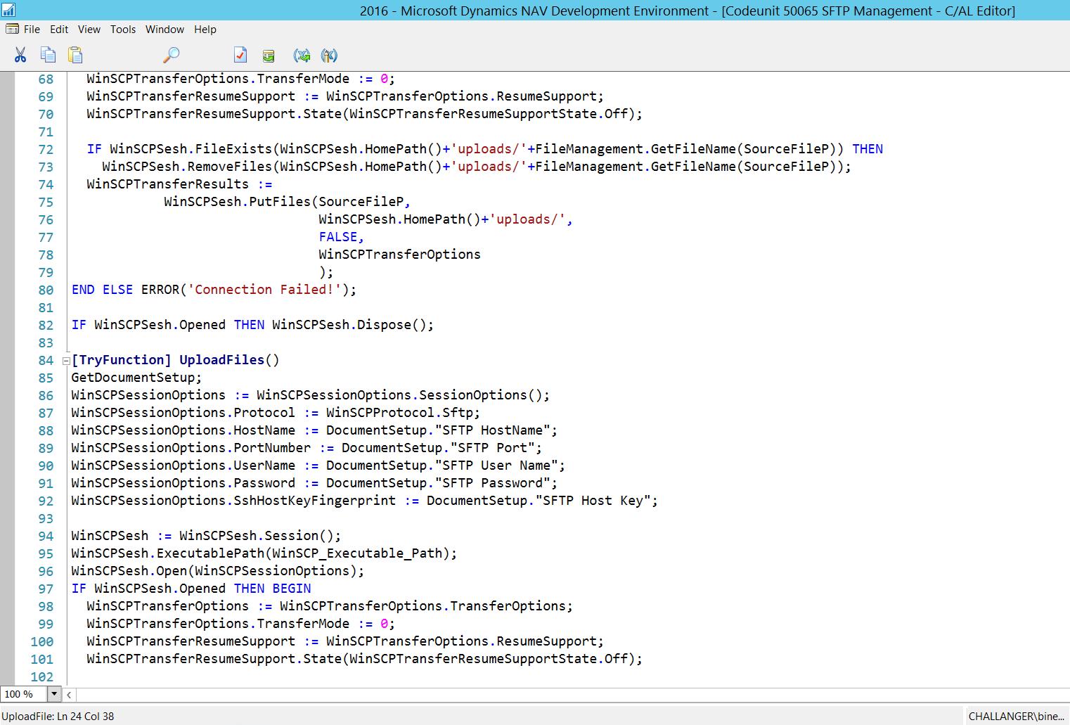 Microsoft Dynamics NAV By Binesh: SFTP