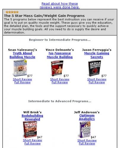 Ejemplos de cómo conducir el tráfico a las páginas de reseñas de productos, o directamente a los programas de afiliación