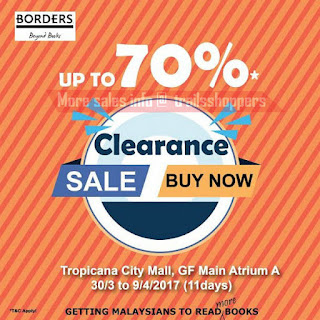 Borders Books Clearance Sale 2017